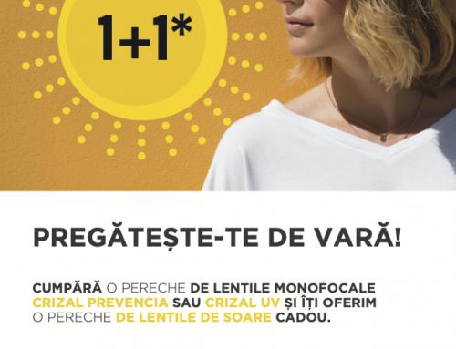 Promoție 1+1 Essilor: Lentile de Soare Cadou